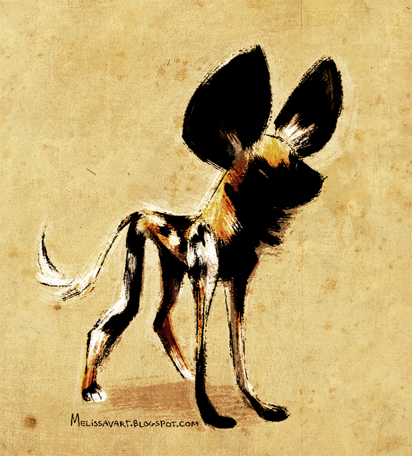 Daily design african wild dog by sketchinthoughts on for African wild dog coloring pages
