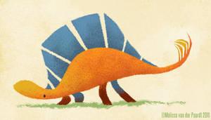 Orange Stegosaurus