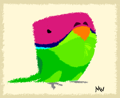 Plum Headed Parakeet by sketchinthoughts