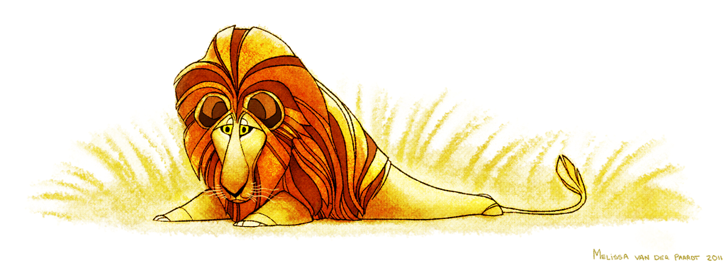 Lion by sketchinthoughts