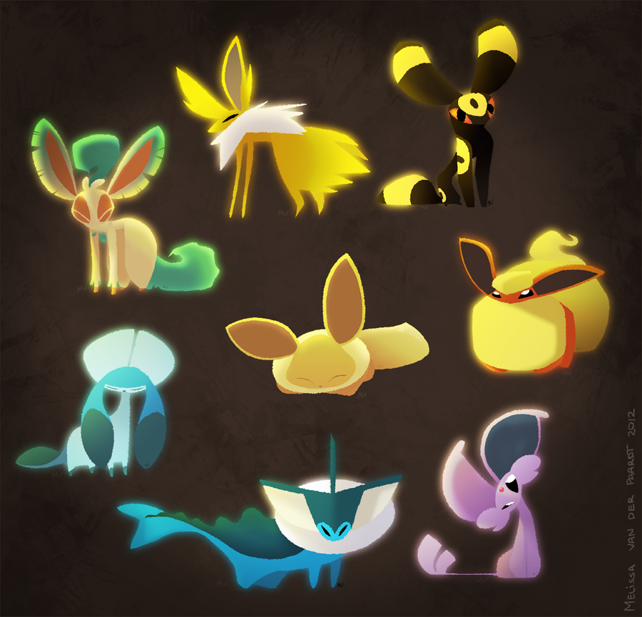 Eeveelutions by sketchinthoughts