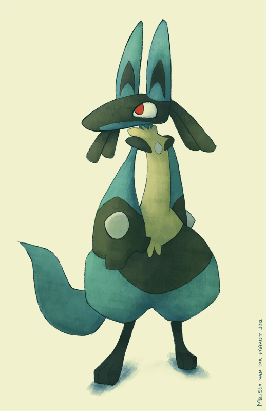 Lucario by sketchinthoughts