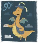 Dragonite Stamp