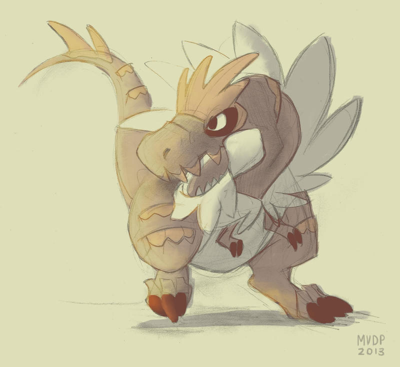 Tyrantrum by sketchinthoughts