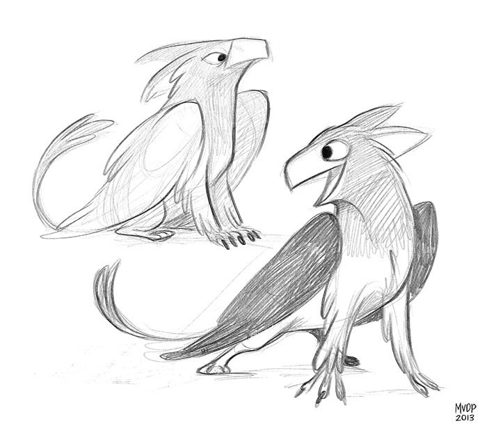 Gryphon Sketches by sketchinthoughts