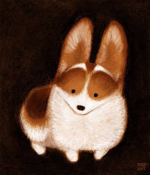 Corgi Pup by sketchinthoughts