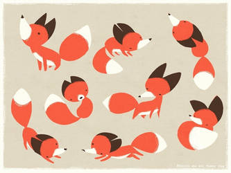 Foxes by sketchinthoughts