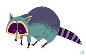 Color Practice Raccoon