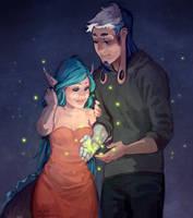 comm: fireflies by littleulvar