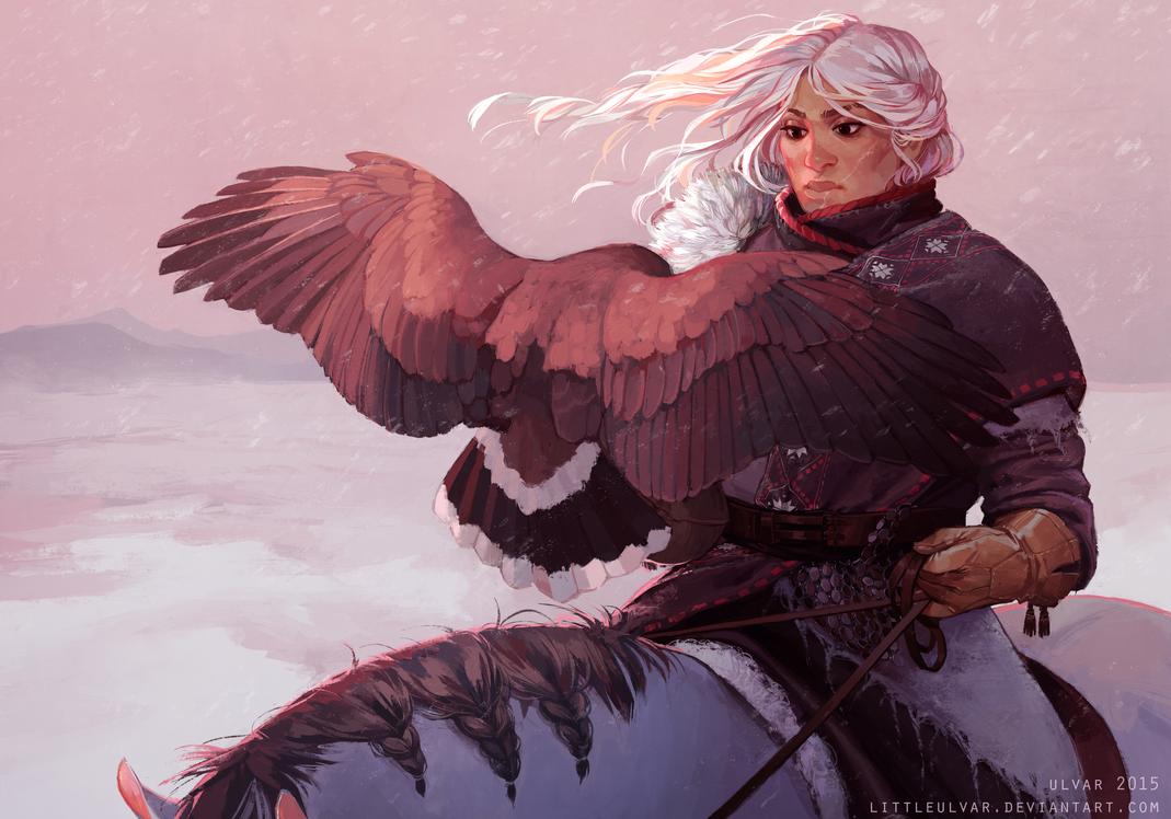 winterdusk by littleulvar