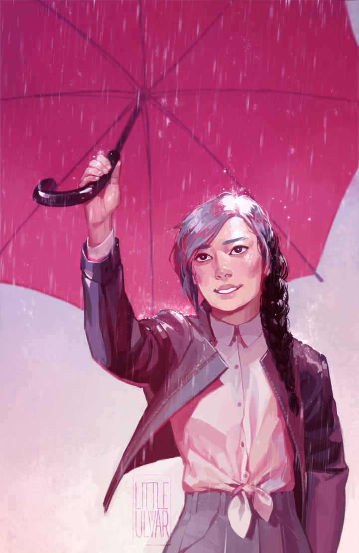 summer rain by littleulvar