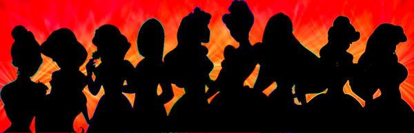 Princess silhouette by katimeana on deviantart
