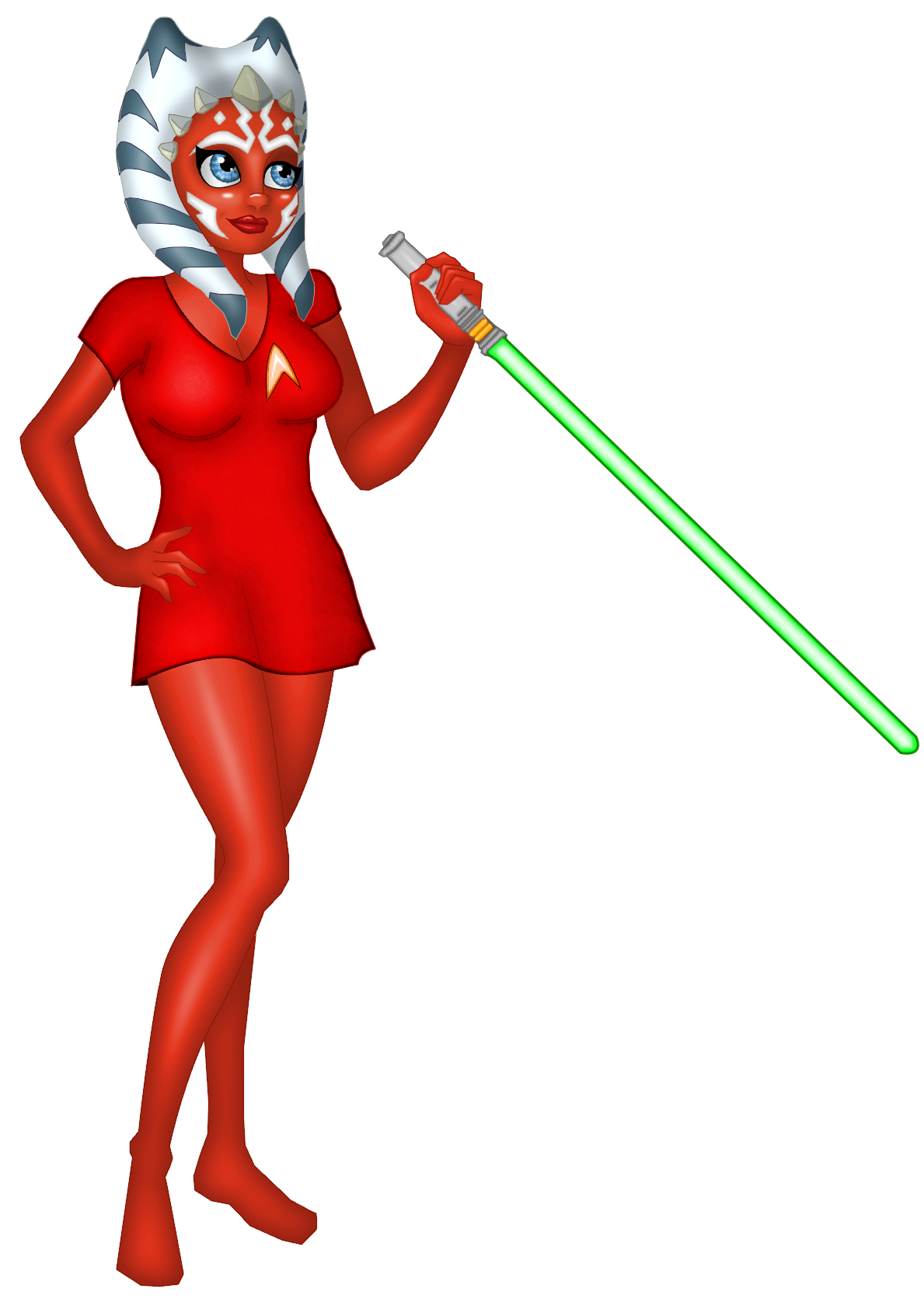 Ahsoka goes to Starfleet? by katimeana