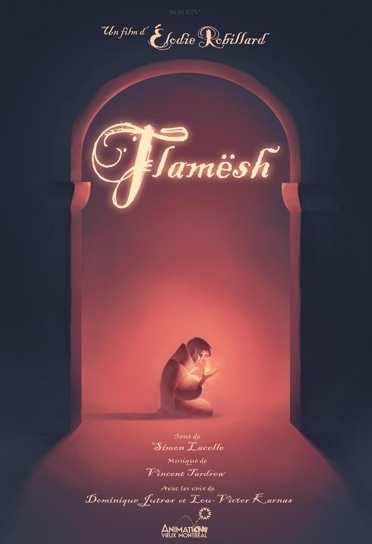 Flamesh-Short Film Poster-Festival screening links by Dlie