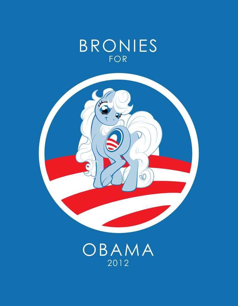 Bronies for Obama 2012 by K-B-Jones