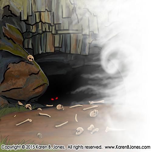Cave of Caerbannog by K-B-Jones
