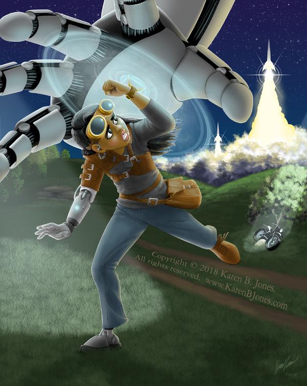 Giant Robot Invasion! by K-B-Jones