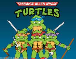 Teenage ALIEN Ninja Turtles by prometheus31