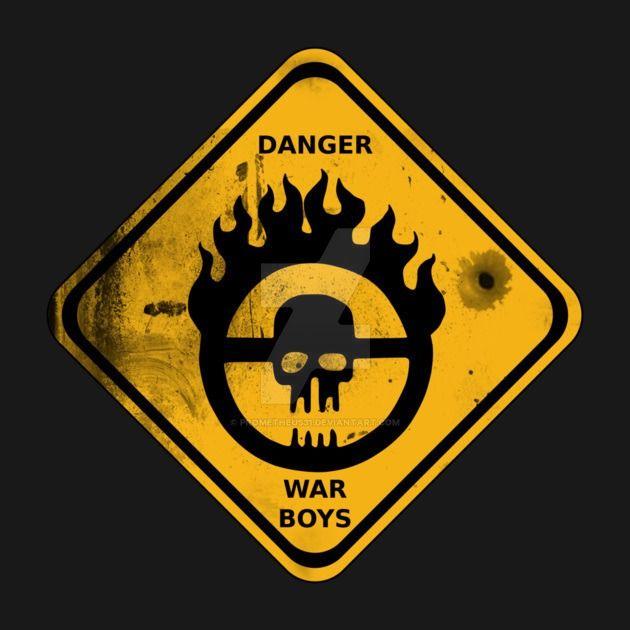War Boys Danger Road Sign - Bullet Edition by prometheus31