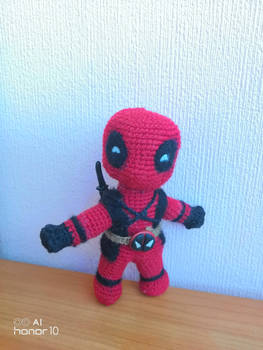 Deadpool with schematic