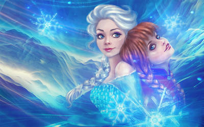 Elsa and Anna by Mashaeorso