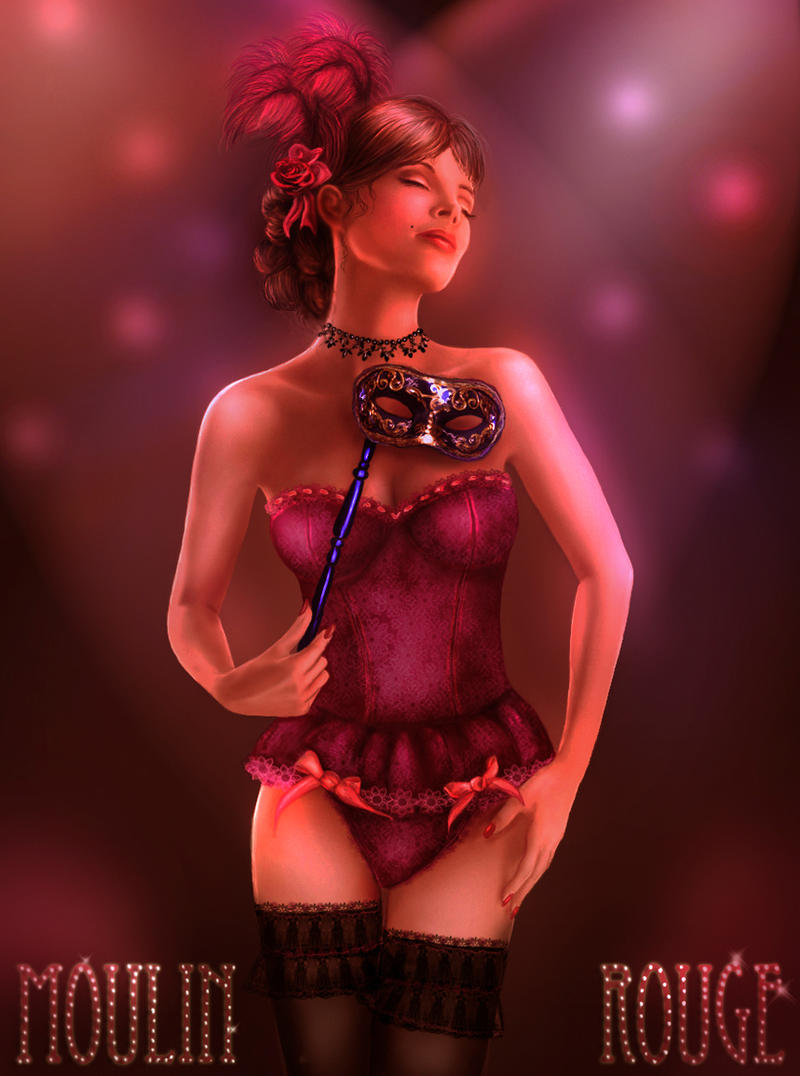 Moulin Rouge 1 - Cynthia by crayonmaniac