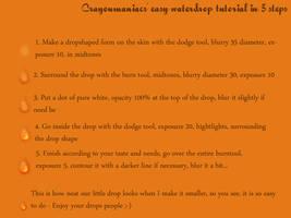 Waterdrop on skin tutorial by crayonmaniac