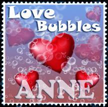 Love bubbles stamp