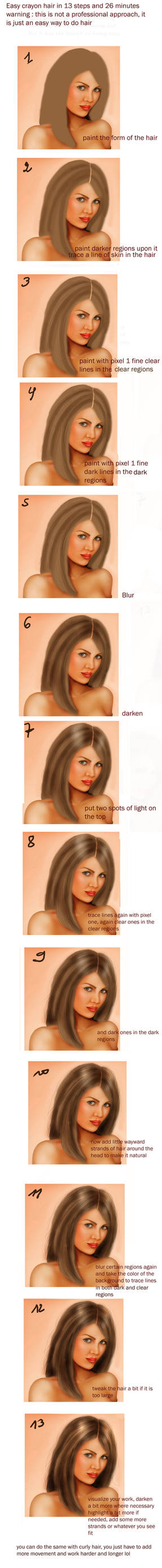 Quick crayon hair tutorial