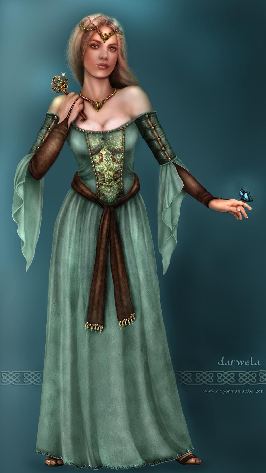 Darwela, Queen of Elves by crayonmaniac