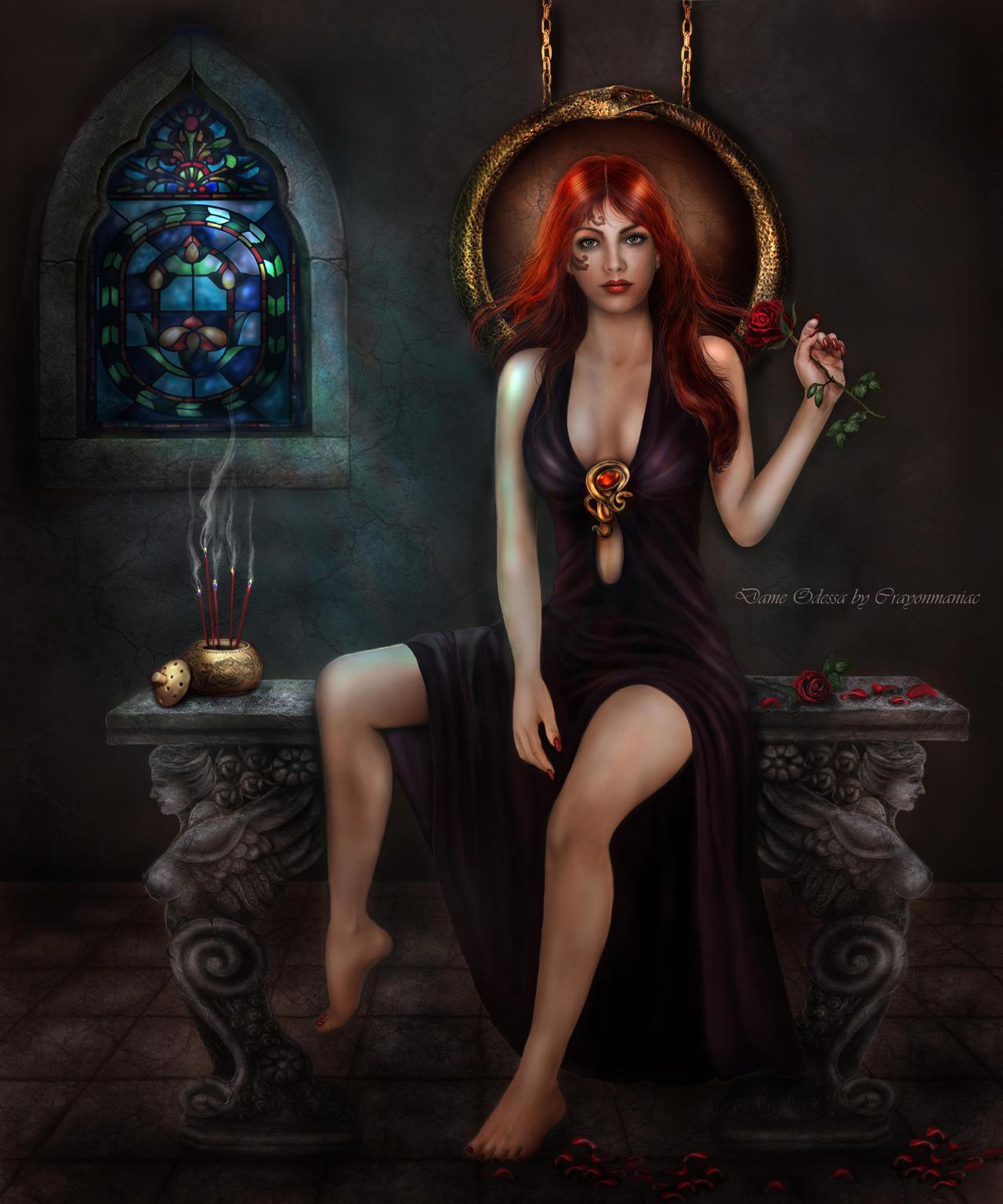 Dame Odessa by crayonmaniac