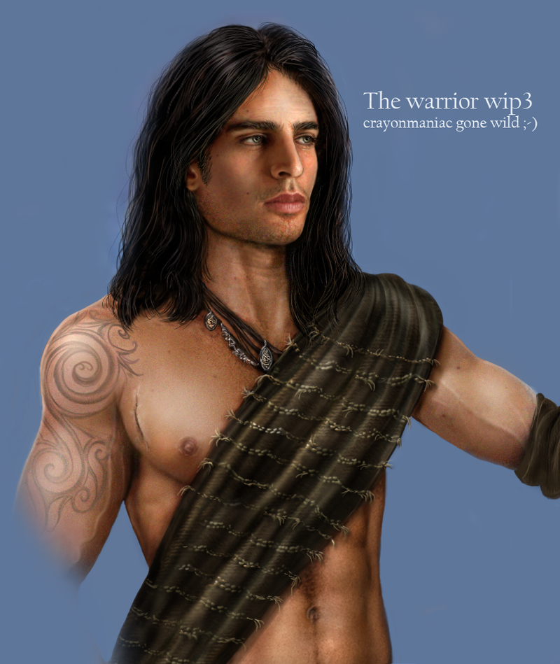 the warrior wip 3 by crayonmaniac