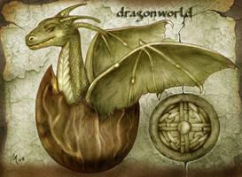 Dragon world - birth of the new dragon by crayonmaniac