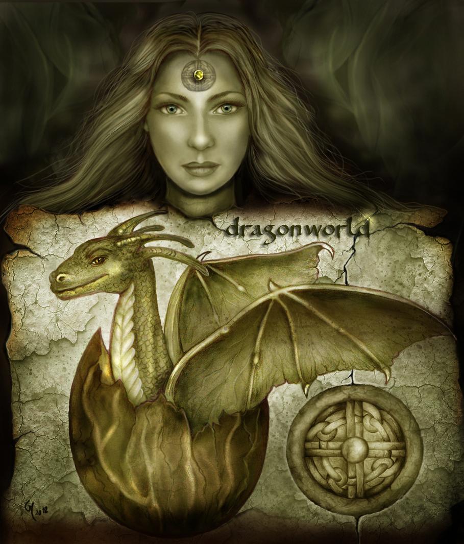 Dragonworld - Birth of the dragon by crayonmaniac