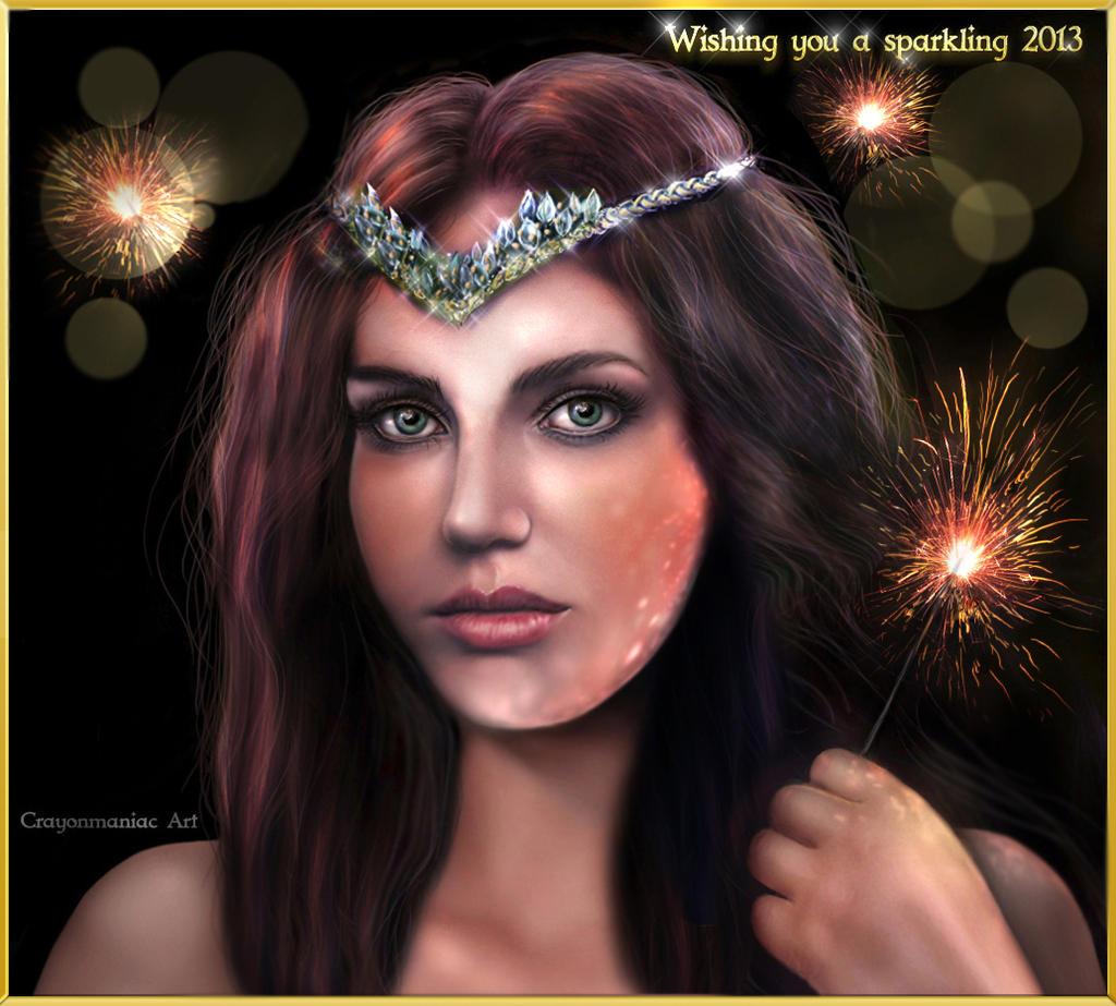 Wishing you a sparkling 2013 by crayonmaniac