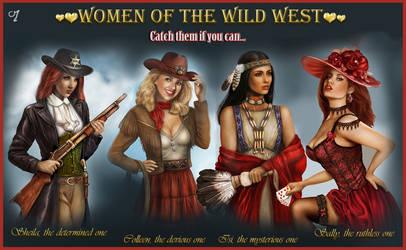 wild west women by crayonmaniac