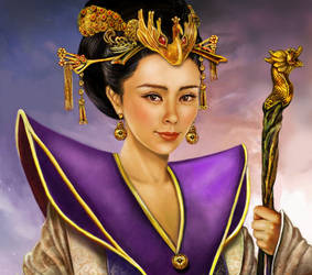 Jade emperor - the Queen Mother by crayonmaniac