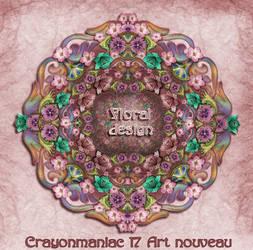 art nouveau floral design by crayonmaniac
