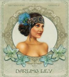 Art nouveau 6 - Darling Lily by crayonmaniac