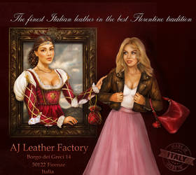 Poster for the Firenze leather shop