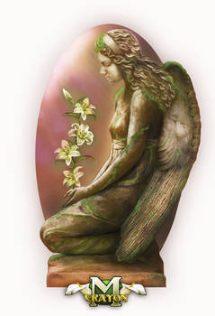 Victorian angel grieving for the world