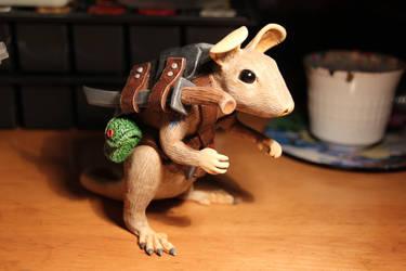Defensive rat scout by dhomochevsky-art