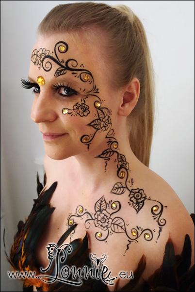 henna inspired face paint by ansigtsmaling on deviantart. Black Bedroom Furniture Sets. Home Design Ideas