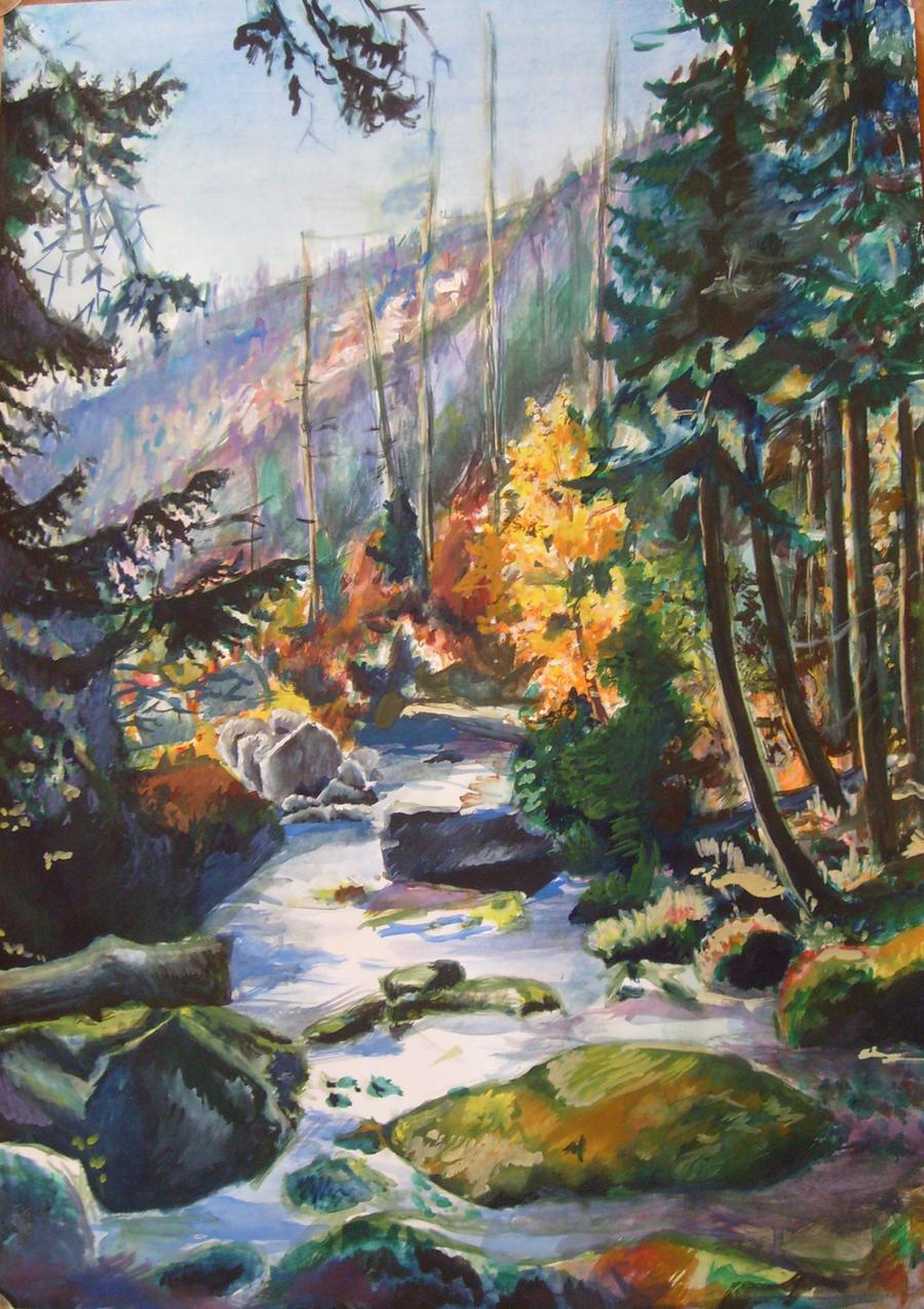 Autumn River Elbe by great-queen-morrigan