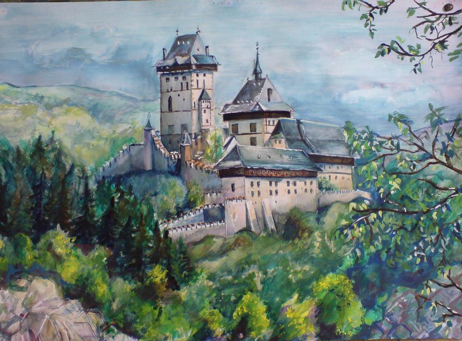 Karlstejn Castle by great-queen-morrigan