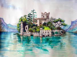 Isola di Loreto Castle by great-queen-morrigan