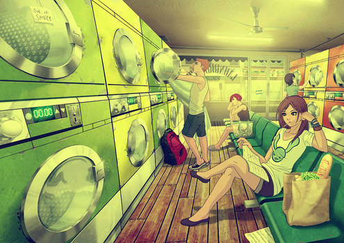 at Laundromat