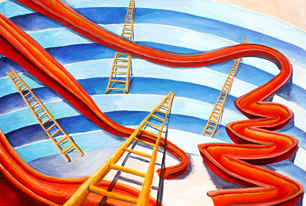 Invented Interior-Chutes and Ladders in 3D by jpklene on DeviantArt