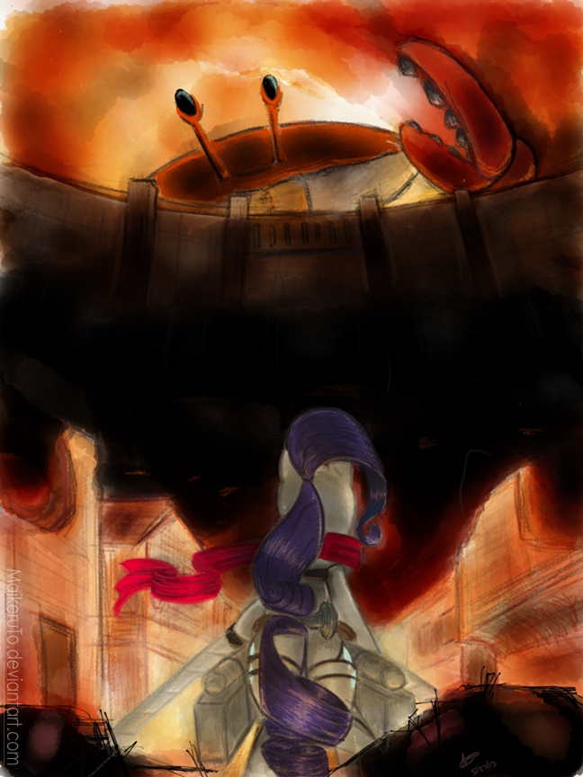Attack on Giant Crab by MaikeruTo