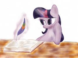 NATGIII: Day 4: Twilight's Trusty Quill by MaikeruTo
